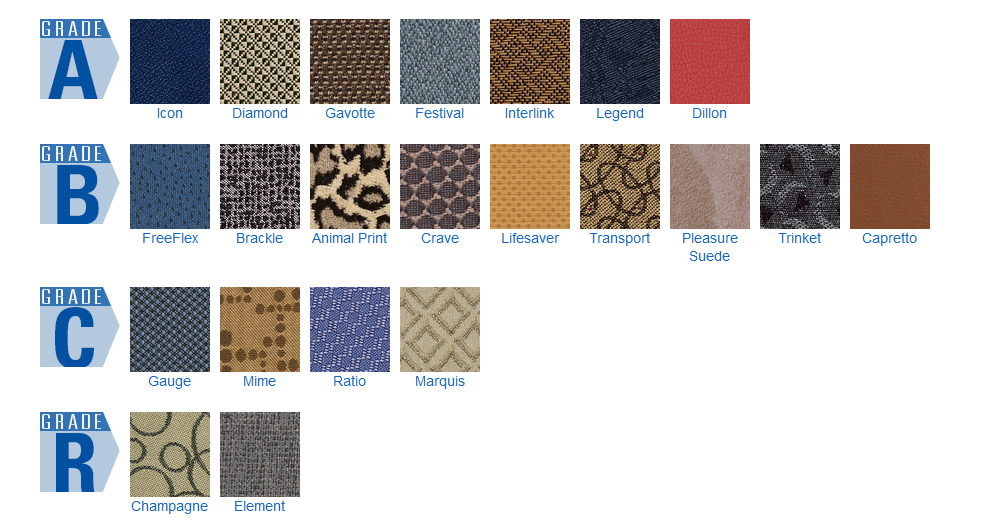 OSP-fabric swatches for office furniture